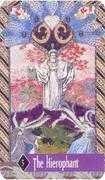 The Hierophant Tarot card in Zerner Farber Tarot deck