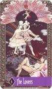 The Lovers Tarot card in Zerner Farber Tarot deck