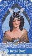 Queen of Swords Tarot card in Zerner Farber Tarot deck