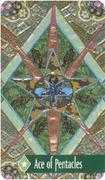 Ace of Pentacles Tarot card in Zerner Farber Tarot deck