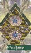 Two of Pentacles Tarot card in Zerner Farber Tarot Tarot deck