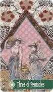 Three of Pentacles Tarot card in Zerner Farber Tarot deck