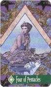 Four of Pentacles Tarot card in Zerner Farber Tarot Tarot deck