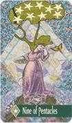 Nine of Pentacles Tarot card in Zerner Farber Tarot deck