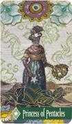 Princess of Pentacles Tarot card in Zerner Farber Tarot deck