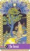 The Hermit Tarot card in Zerner Farber Tarot deck