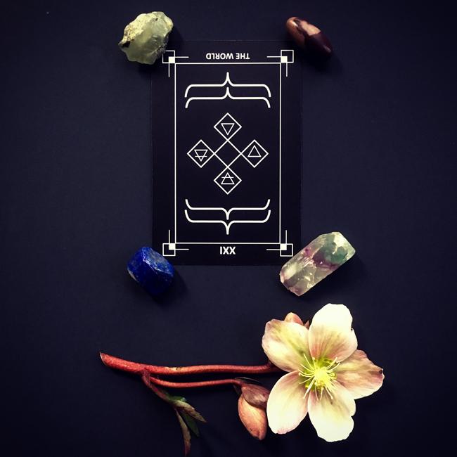 The World Tarot Card Reversed